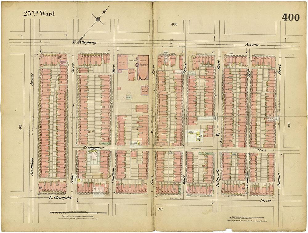Insurance Maps of the City of Philadelphia, 1913-1918, Plate 400