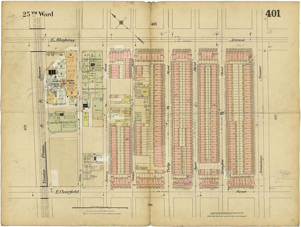 Insurance Maps of the City of Philadelphia, 1913-1918, Plate 401