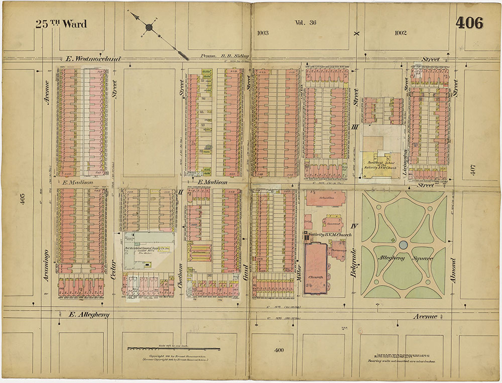 Insurance Maps of the City of Philadelphia, 1913-1918, Plate 406
