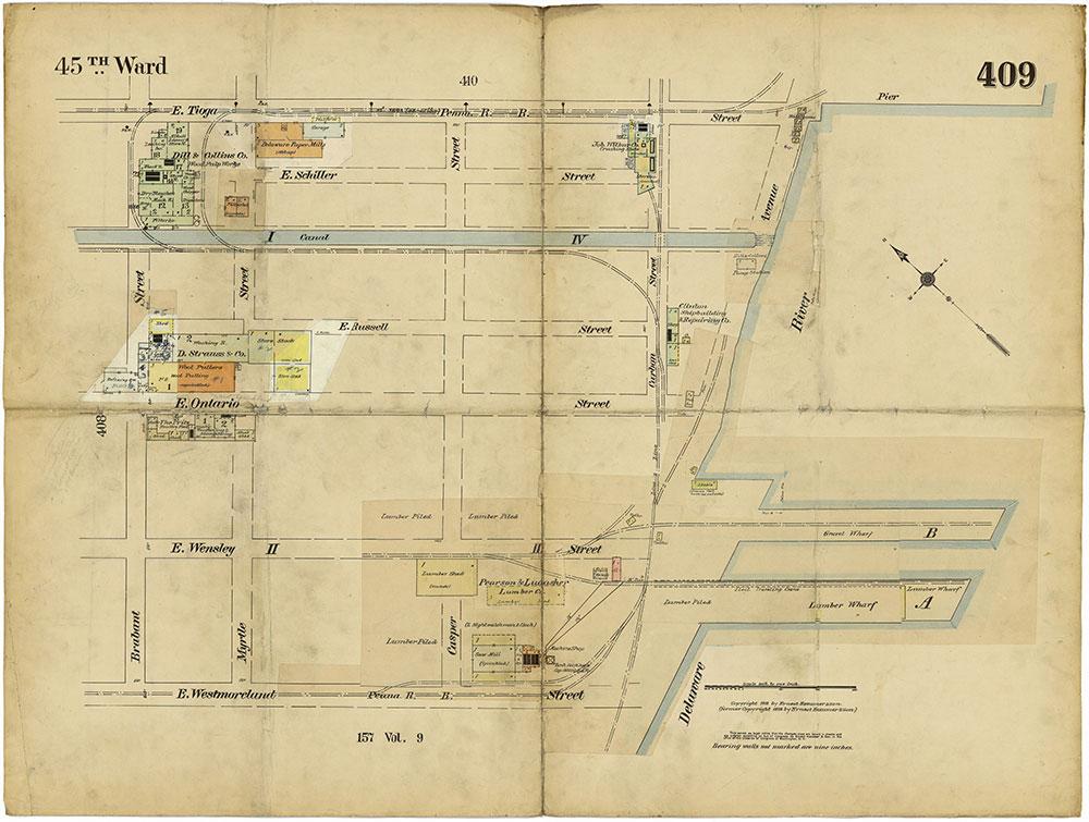 Insurance Maps of the City of Philadelphia, 1913-1918, Plate 409