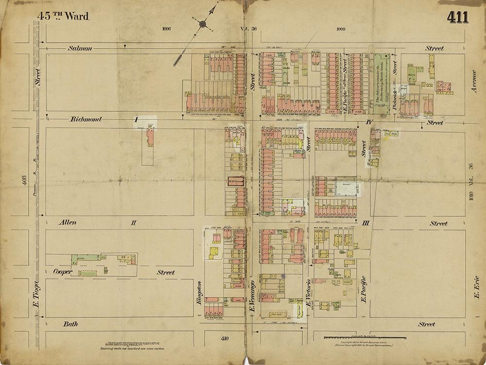 Insurance Maps of the City of Philadelphia, 1913-1918, Plate 411