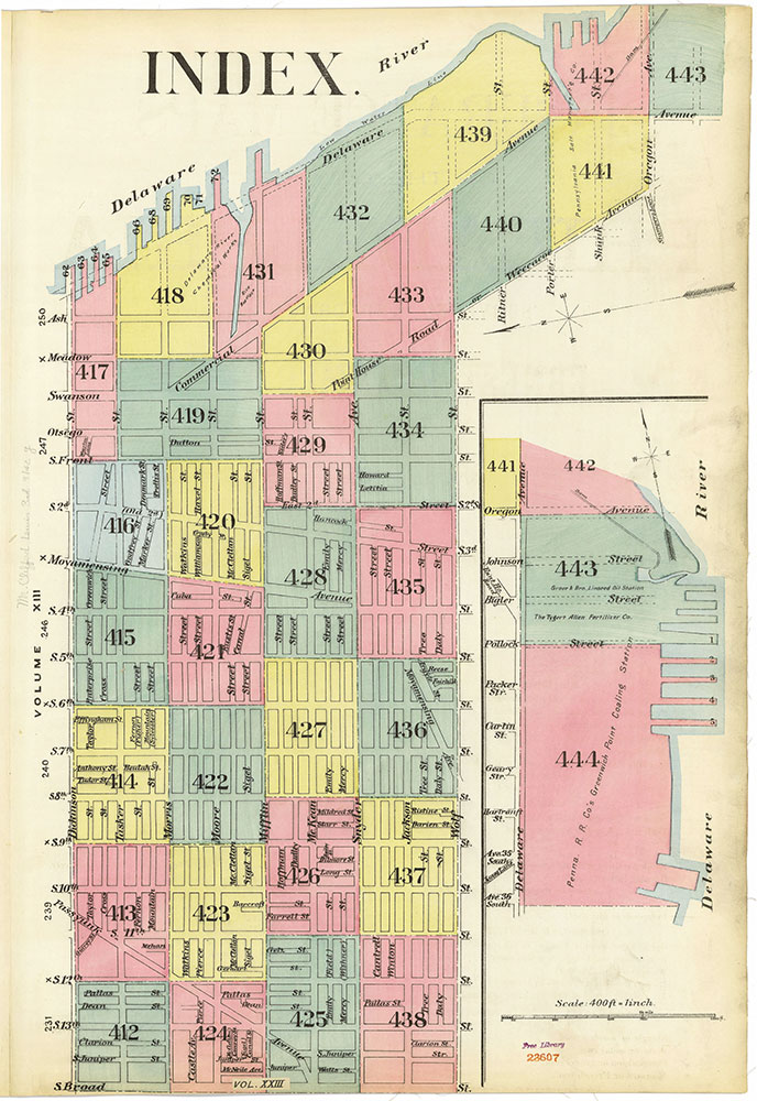 Insurance Maps of the City of Philadelphia, 1893-1895, Map Index