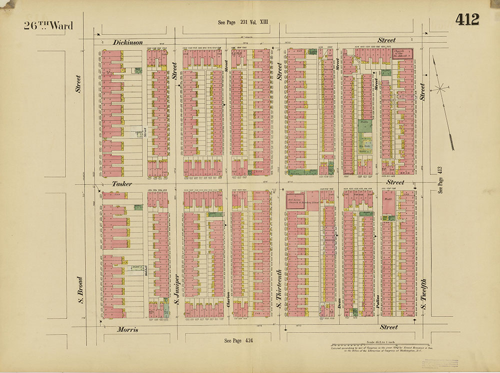 Insurance Maps of the City of Philadelphia, 1893-1895, Plate 412