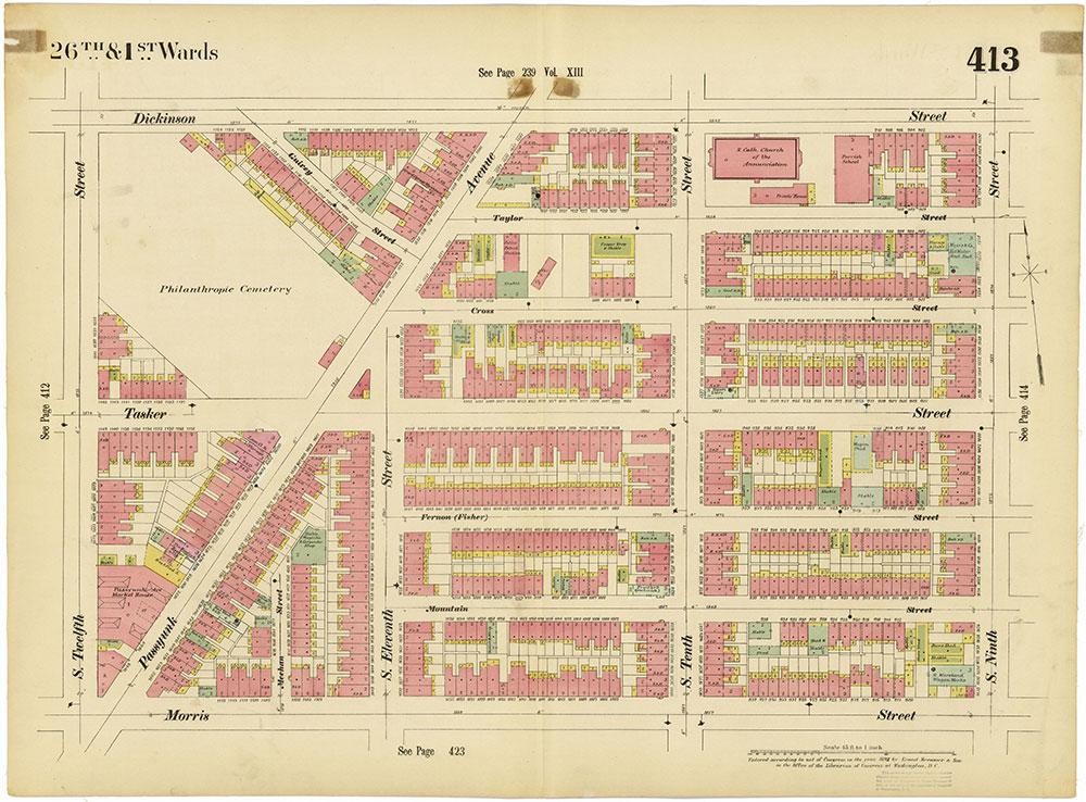 Insurance Maps of the City of Philadelphia, 1893-1895, Plate 413