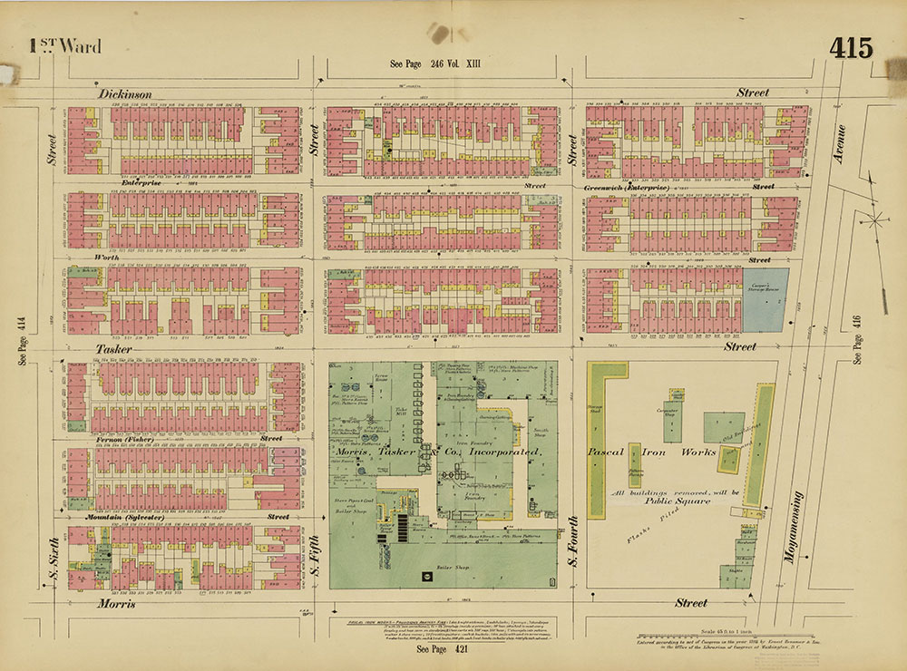 Insurance Maps of the City of Philadelphia, 1893-1895, Plate 415