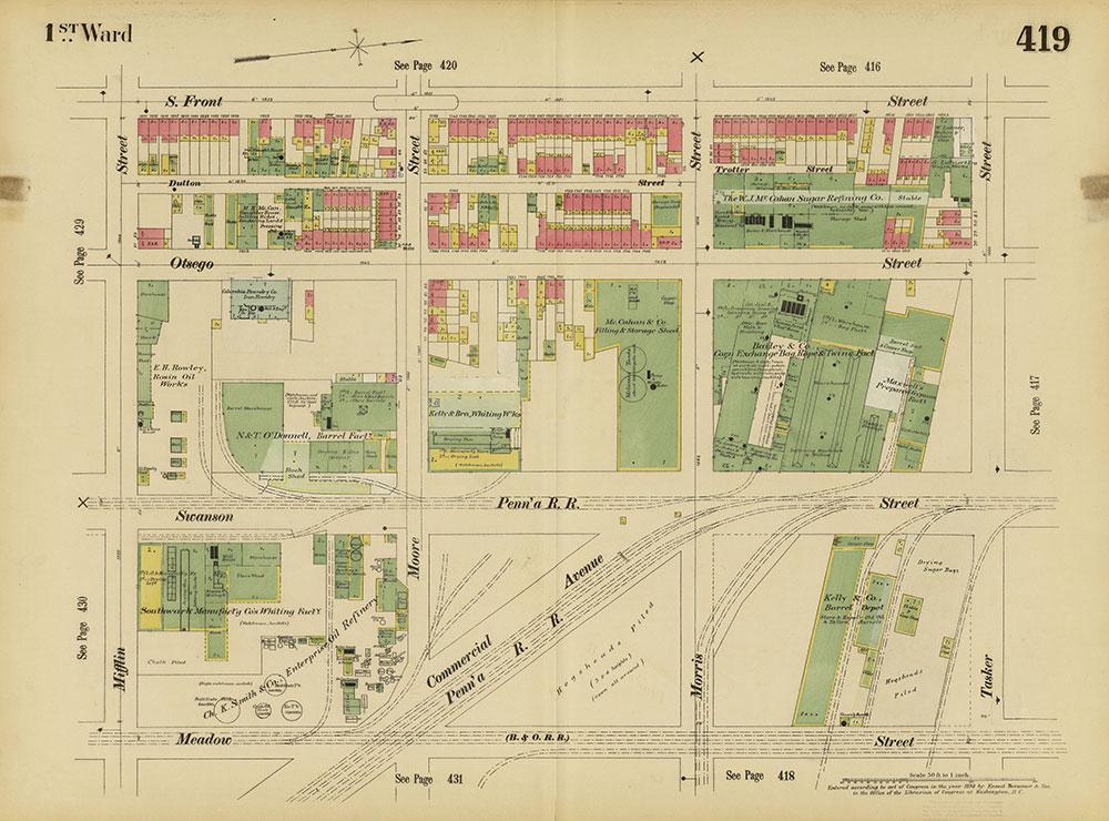 Insurance Maps of the City of Philadelphia, 1893-1895, Plate 419