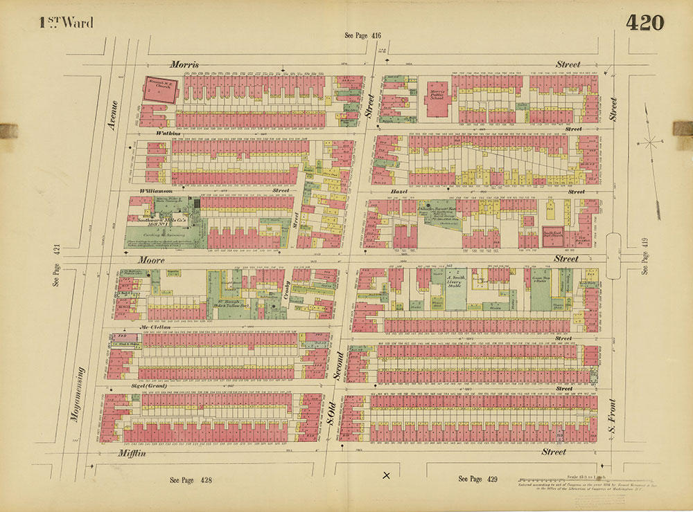 Insurance Maps of the City of Philadelphia, 1893-1895, Plate 420