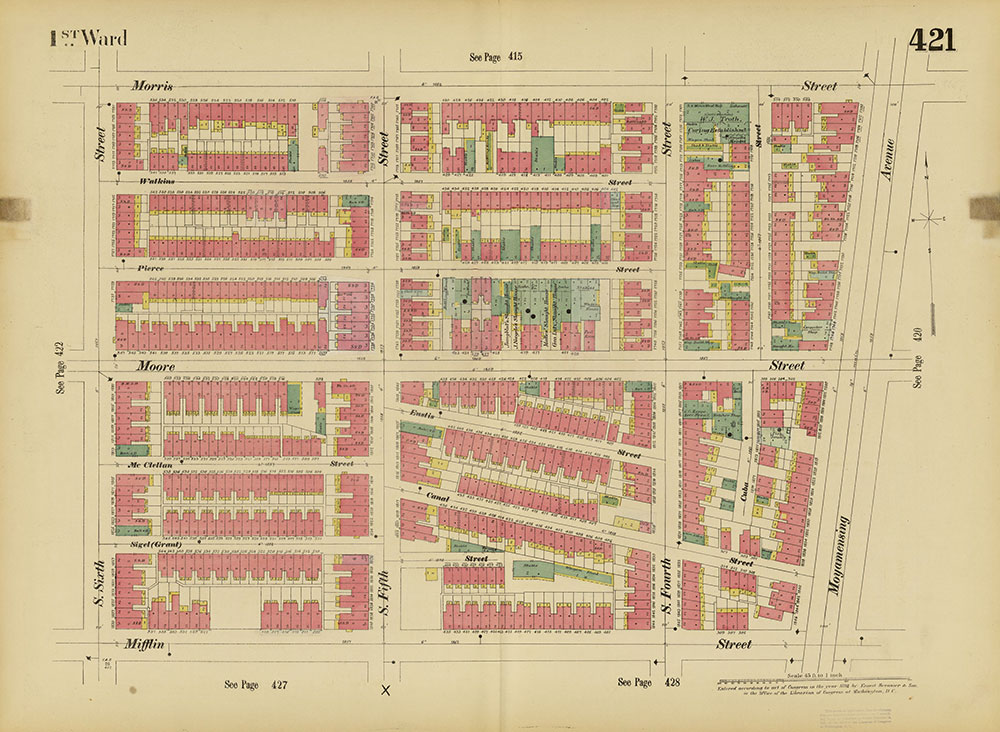 Insurance Maps of the City of Philadelphia, 1893-1895, Plate 421
