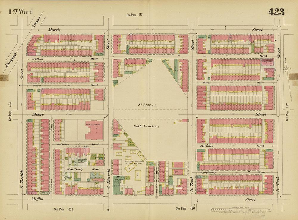Insurance Maps of the City of Philadelphia, 1893-1895, Plate 423