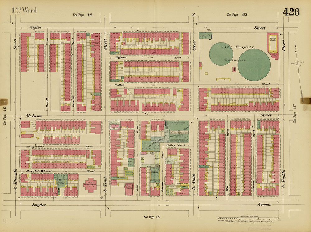 Insurance Maps of the City of Philadelphia, 1893-1895, Plate 426