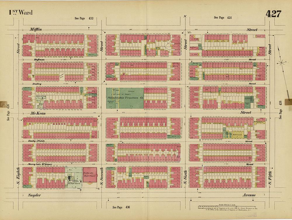 Insurance Maps of the City of Philadelphia, 1893-1895, Plate 427