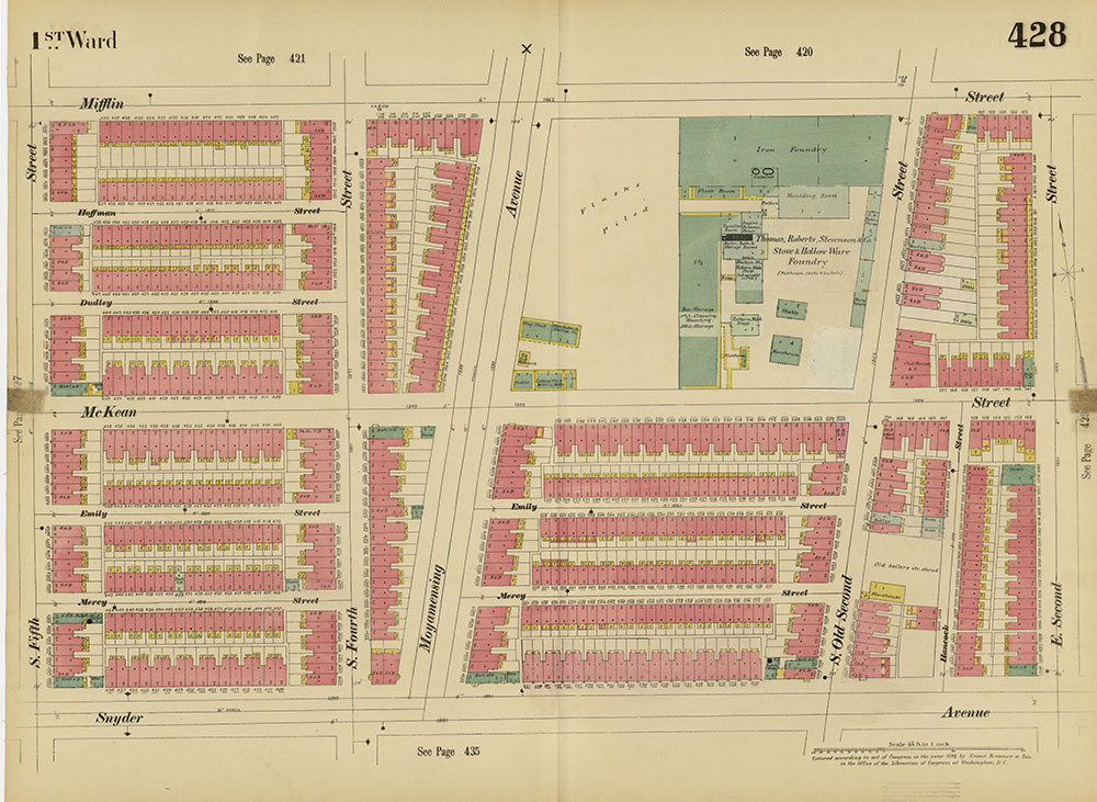 Insurance Maps of the City of Philadelphia, 1893-1895, Plate 428