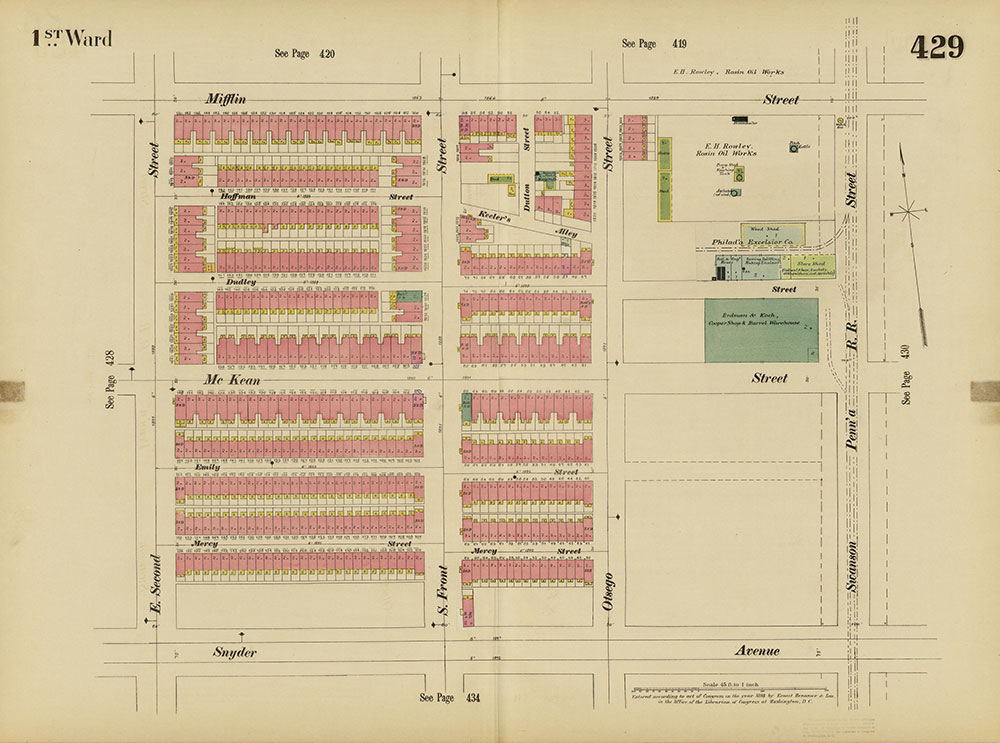 Insurance Maps of the City of Philadelphia, 1893-1895, Plate 429