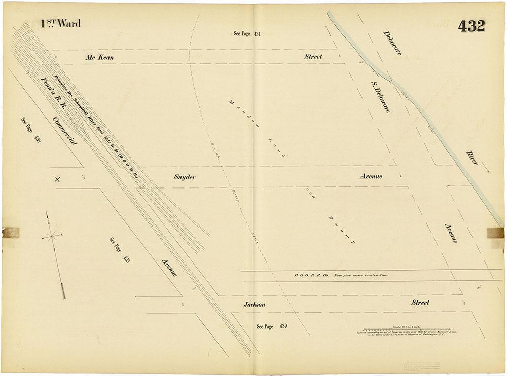 Insurance Maps of the City of Philadelphia, 1893-1895, Plate 432