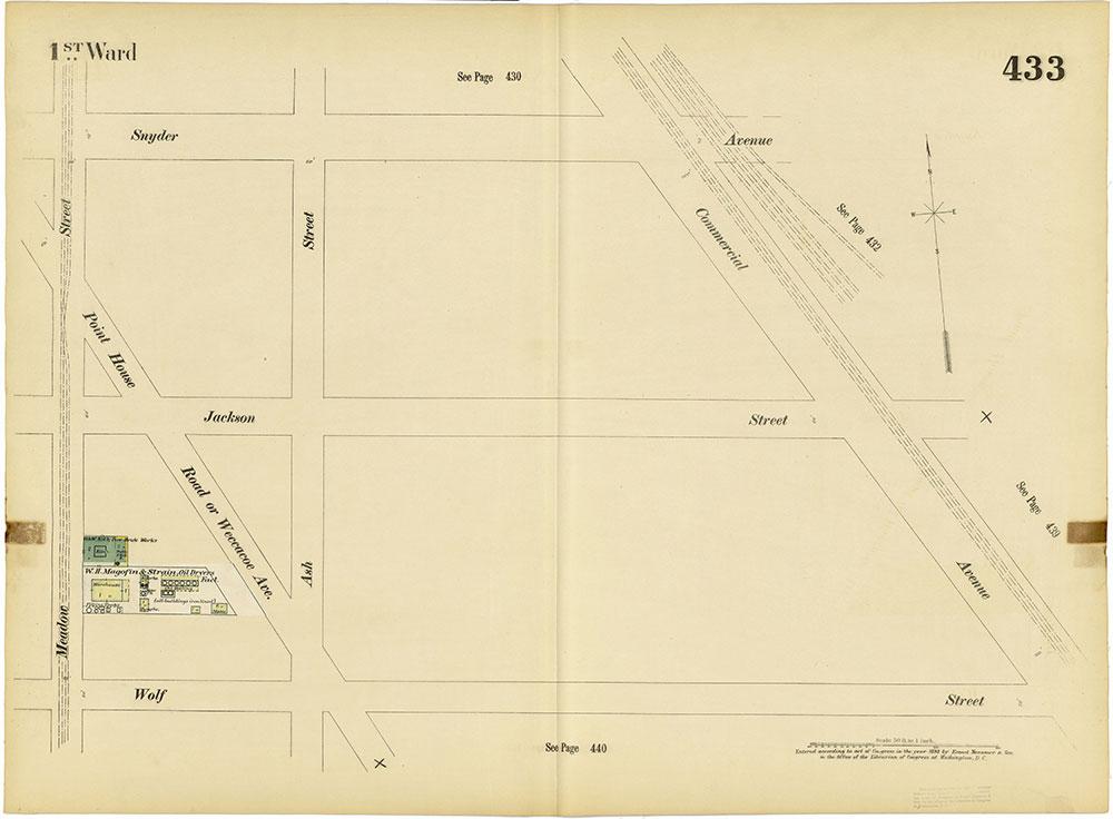 Insurance Maps of the City of Philadelphia, 1893-1895, Plate 433