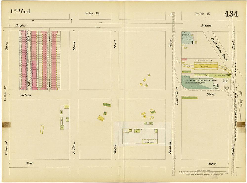 Insurance Maps of the City of Philadelphia, 1893-1895, Plate 434