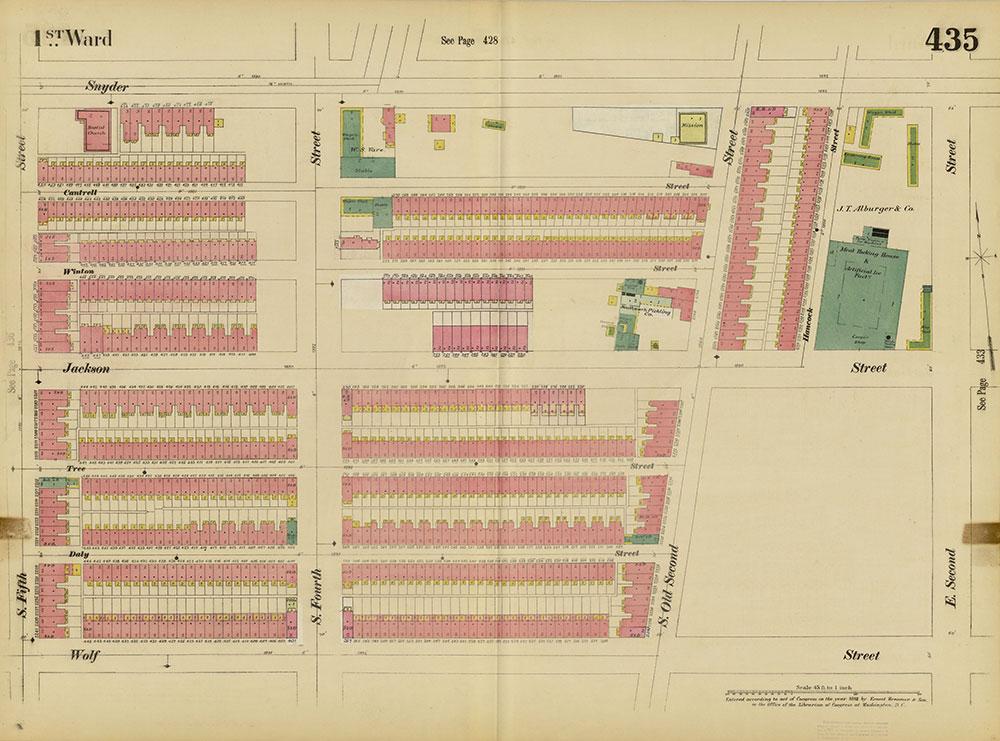 Insurance Maps of the City of Philadelphia, 1893-1895, Plate 435