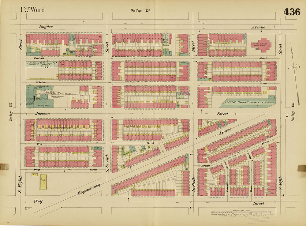 Insurance Maps of the City of Philadelphia, 1893-1895, Plate 436
