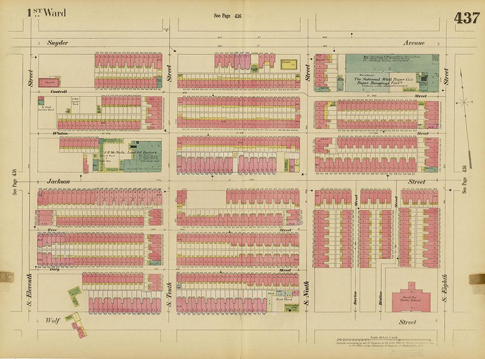 Insurance Maps of the City of Philadelphia, 1893-1895, Plate 437