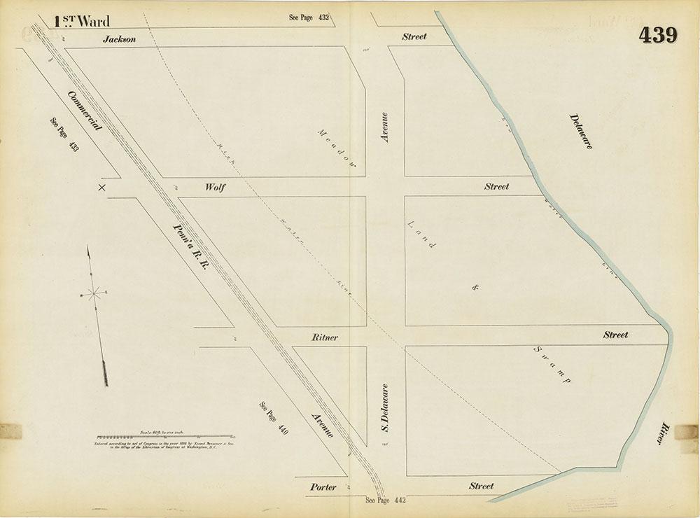 Insurance Maps of the City of Philadelphia, 1893-1895, Plate 439