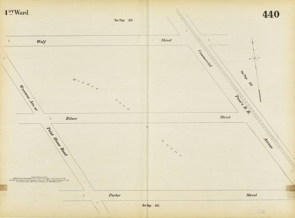 Insurance Maps of the City of Philadelphia, 1893-1895, Plate 440