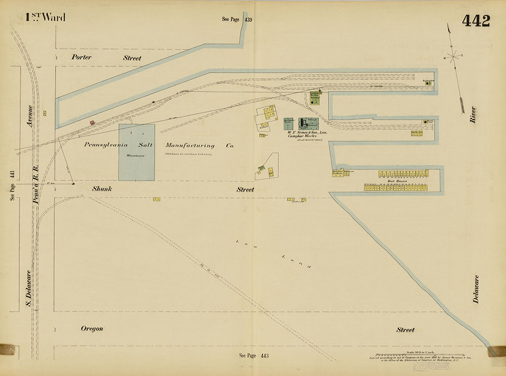 Insurance Maps of the City of Philadelphia, 1893-1895, Plate 442