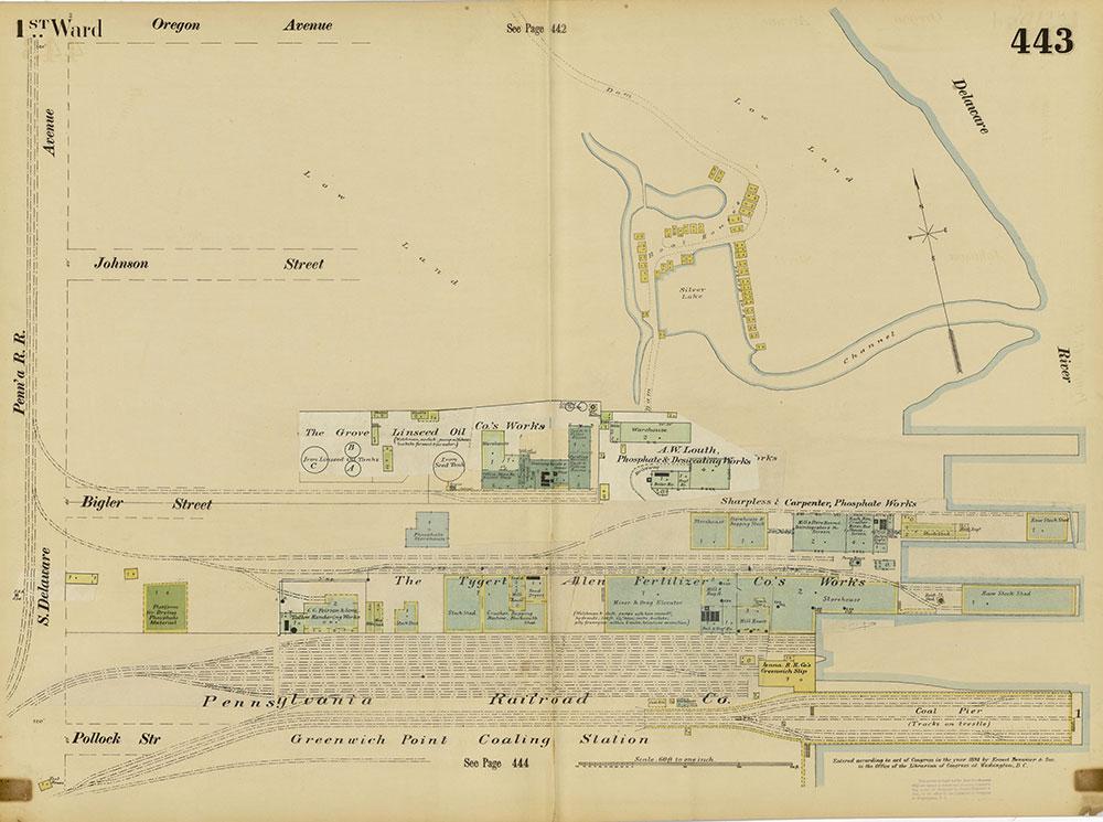 Insurance Maps of the City of Philadelphia, 1893-1895, Plate 443