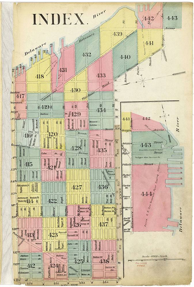 Insurance Maps of the City of Philadelphia, 1893-1914, Index Map