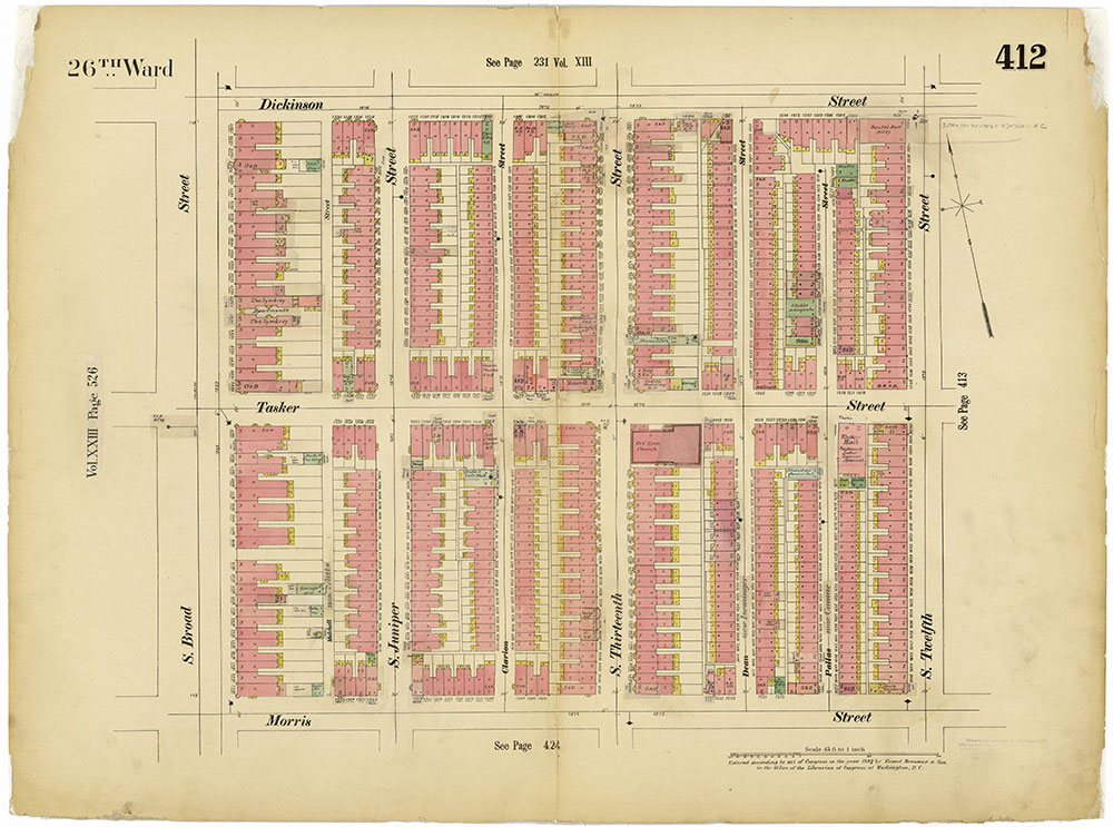 Insurance Maps of the City of Philadelphia, 1893-1914, Plate 412