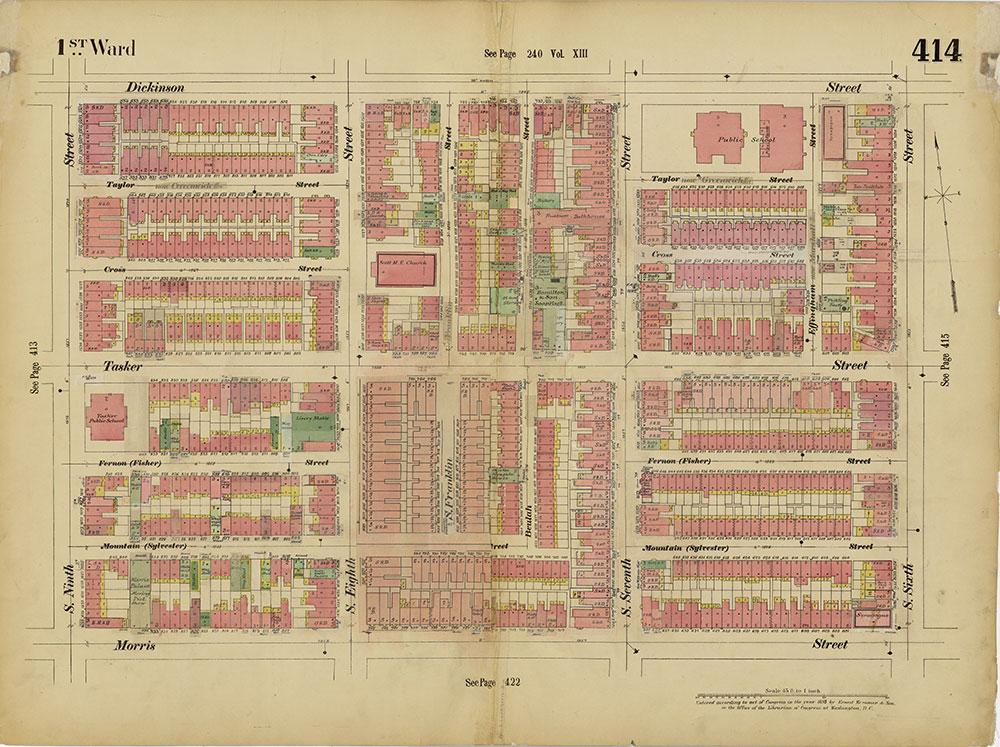 Insurance Maps of the City of Philadelphia, 1893-1914, Plate 414