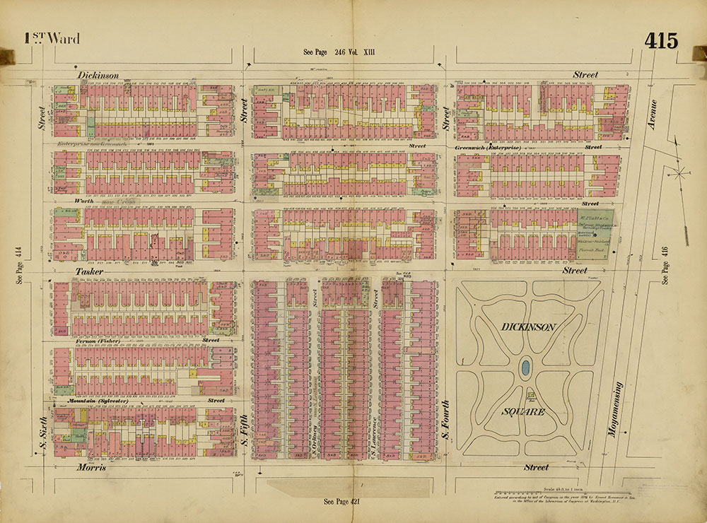 Insurance Maps of the City of Philadelphia, 1893-1914, Plate 415