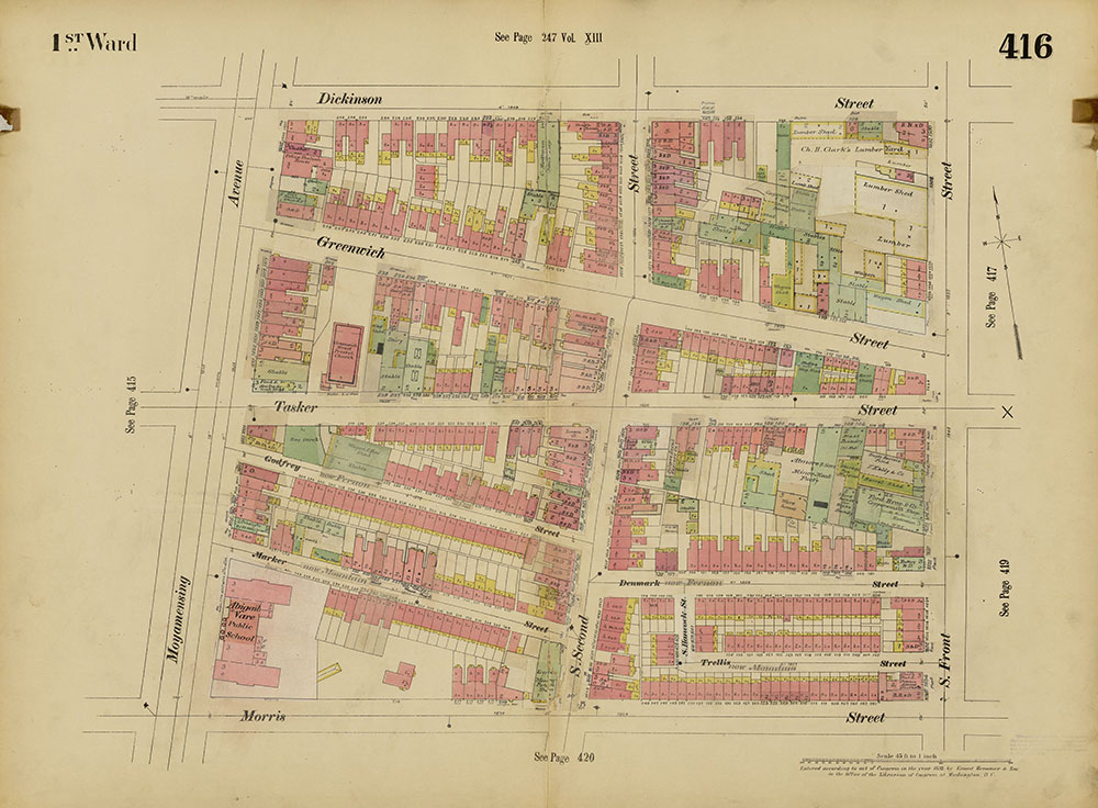 Insurance Maps of the City of Philadelphia, 1893-1914, Plate 416