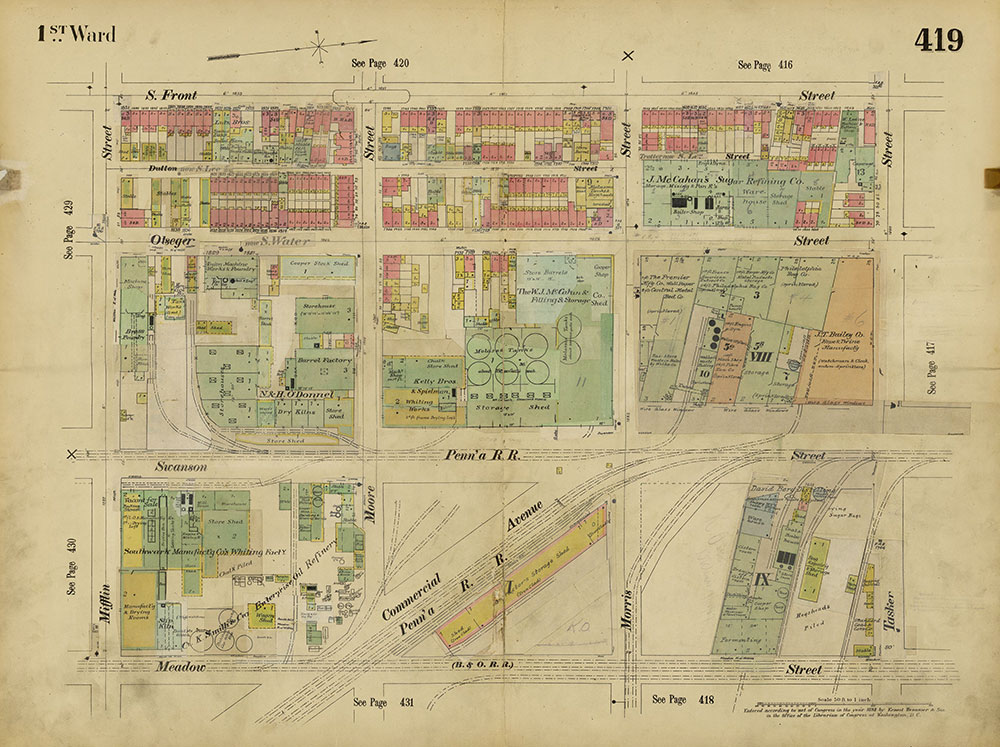 Insurance Maps of the City of Philadelphia, 1893-1914, Plate 419