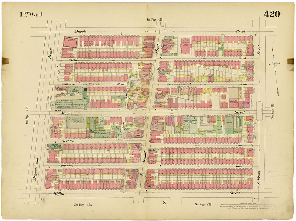 Insurance Maps of the City of Philadelphia, 1893-1914, Plate 420