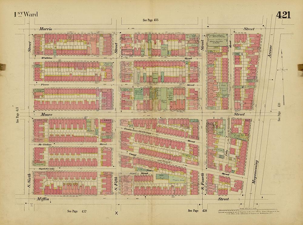 Insurance Maps of the City of Philadelphia, 1893-1914, Plate 421
