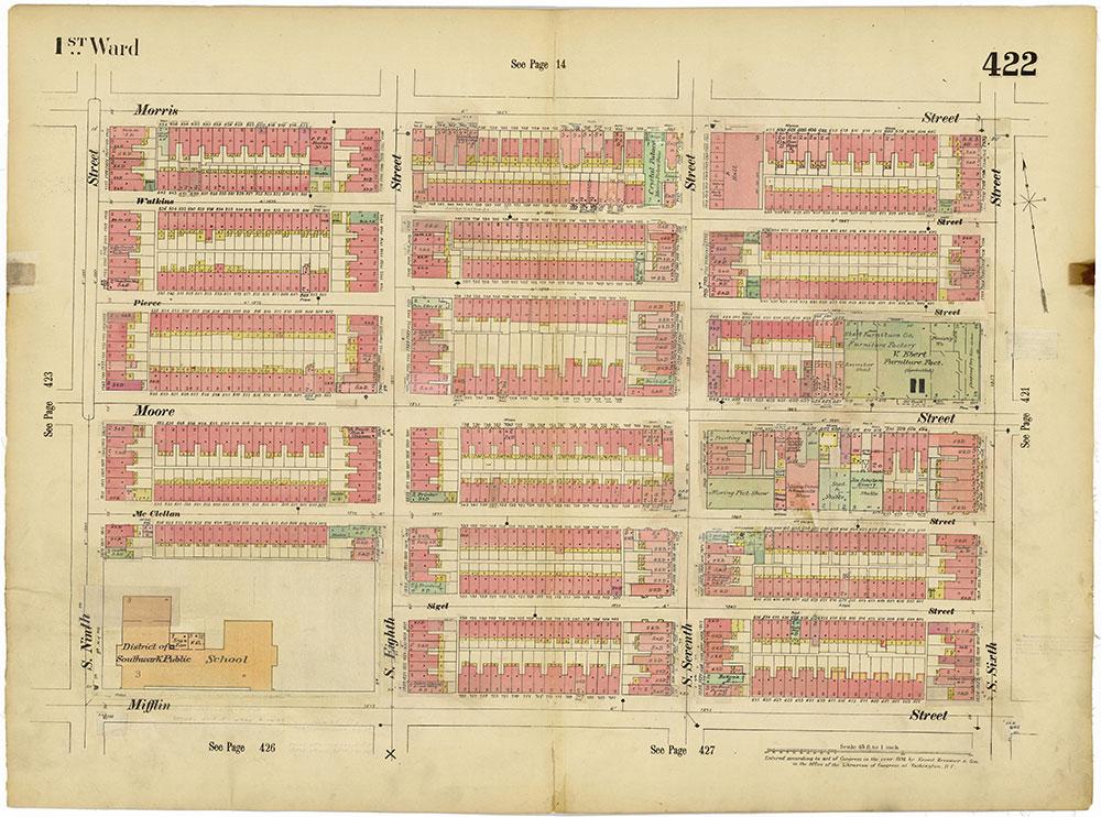 Insurance Maps of the City of Philadelphia, 1893-1914, Plate 422