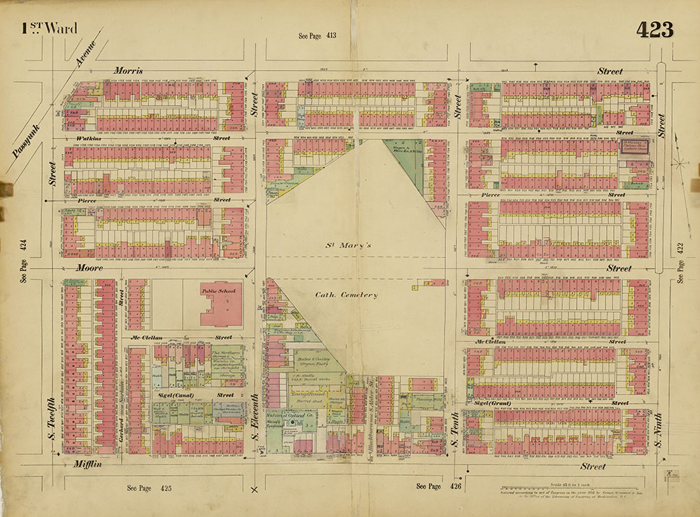 Insurance Maps of the City of Philadelphia, 1893-1914, Plate 423