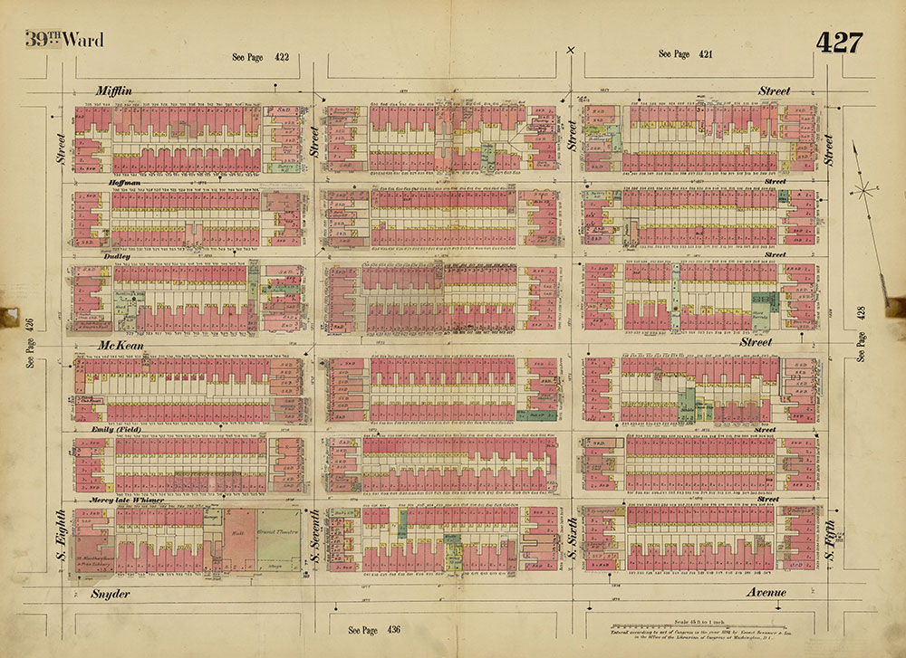 Insurance Maps of the City of Philadelphia, 1893-1914, Plate 427
