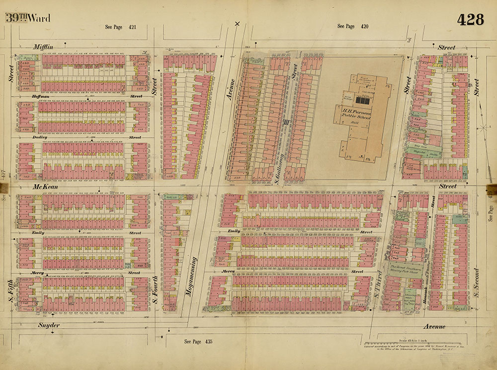 Insurance Maps of the City of Philadelphia, 1893-1914, Plate 428