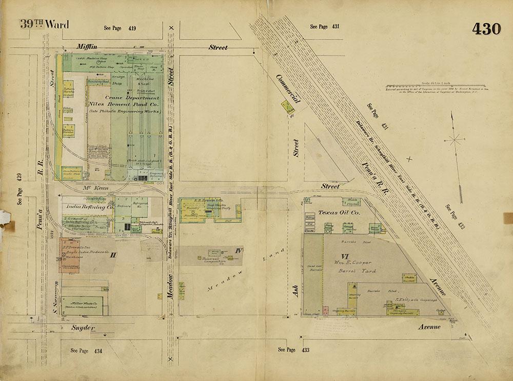 Insurance Maps of the City of Philadelphia, 1893-1914, Plate 430