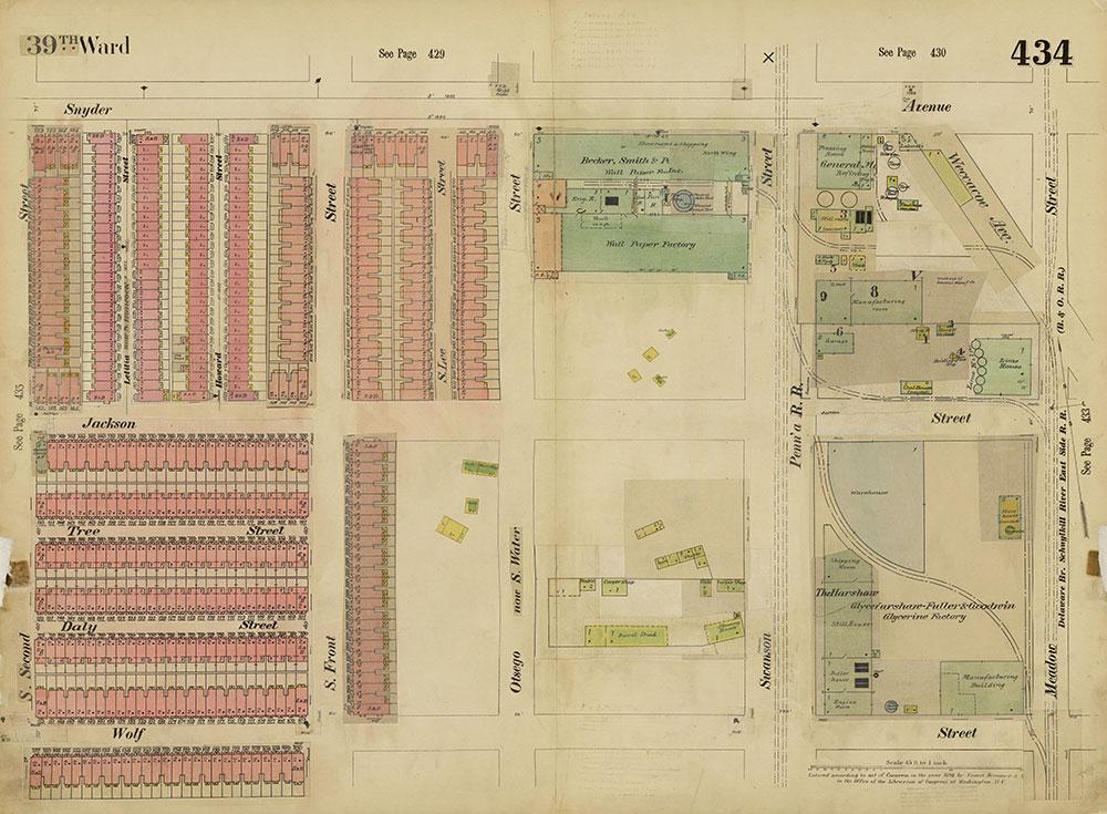 Insurance Maps of the City of Philadelphia, 1893-1914, Plate 434