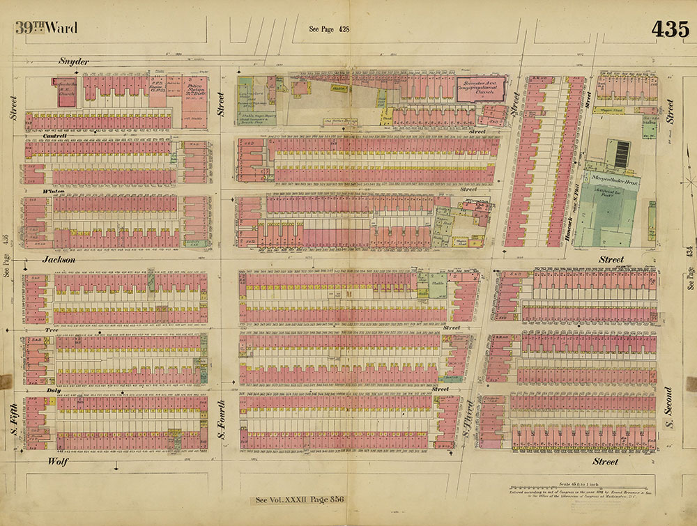 Insurance Maps of the City of Philadelphia, 1893-1914, Plate 435