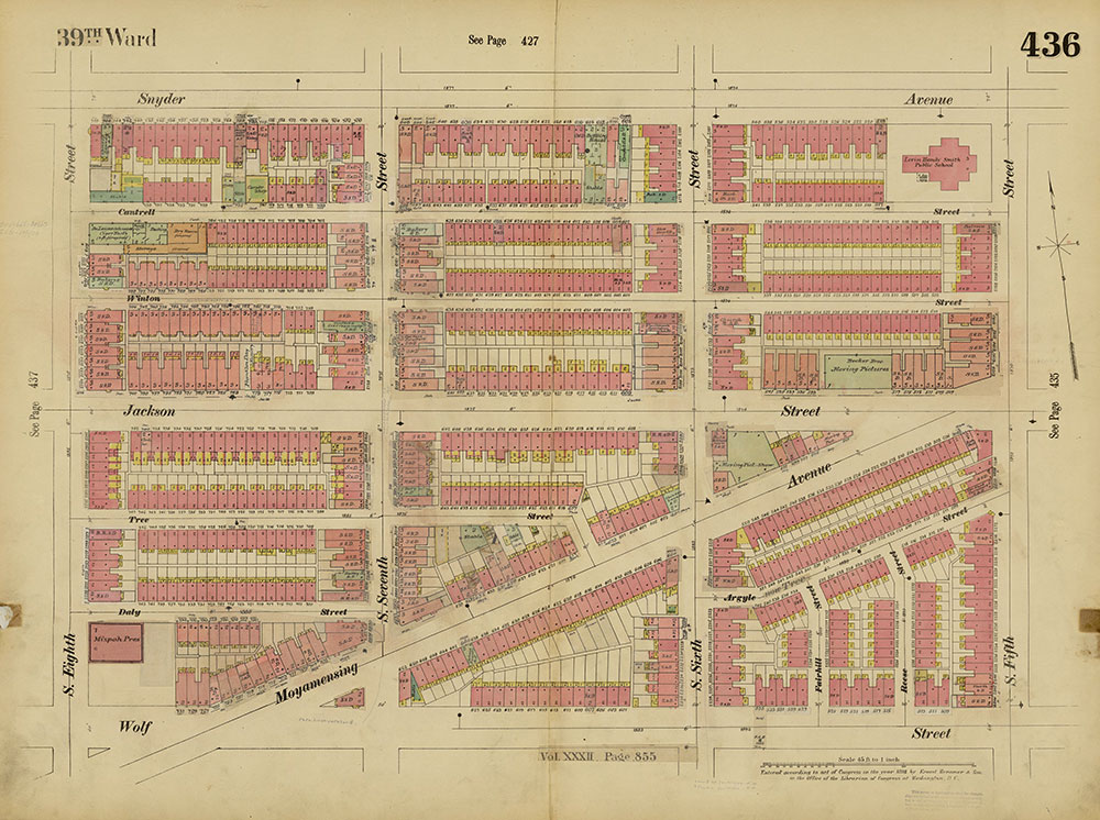 Insurance Maps of the City of Philadelphia, 1893-1914, Plate 436