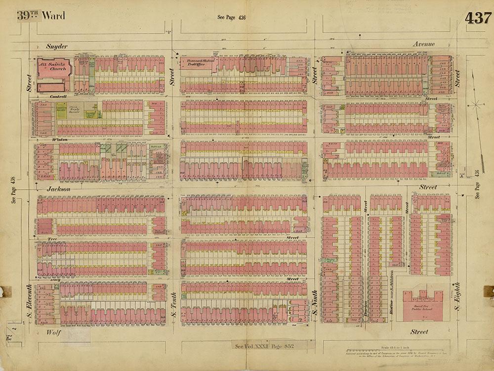 Insurance Maps of the City of Philadelphia, 1893-1914, Plate 437