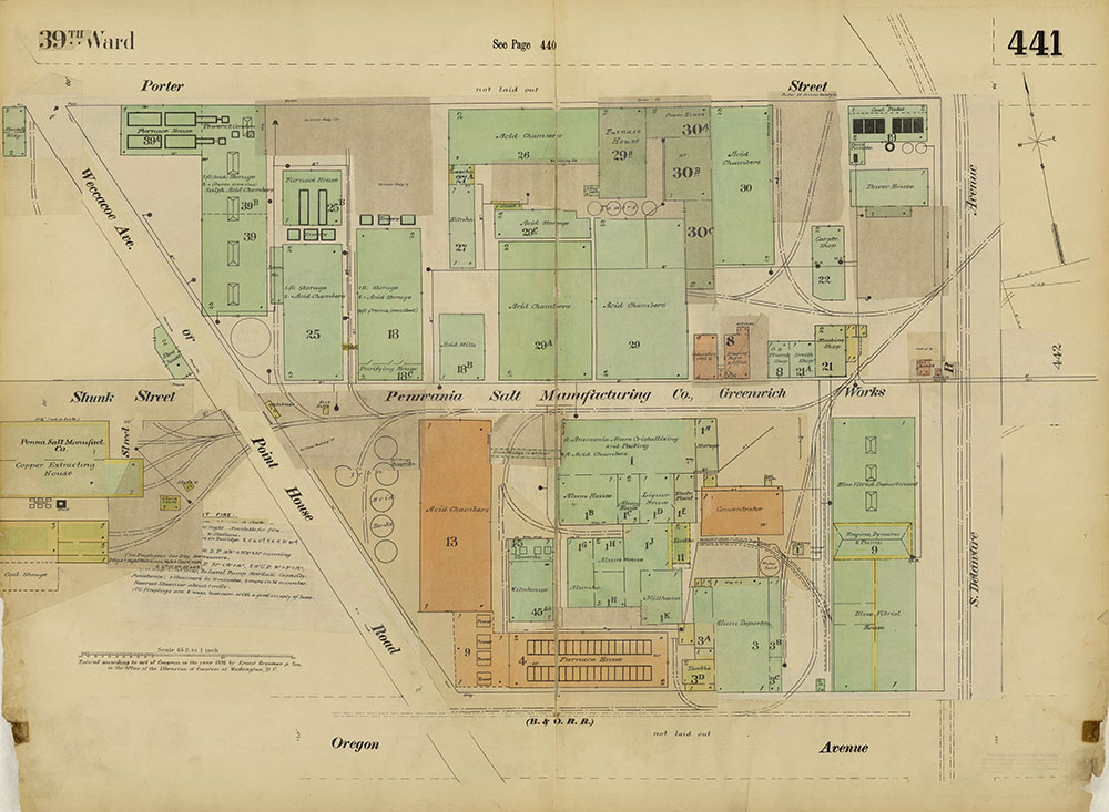 Insurance Maps of the City of Philadelphia, 1893-1914, Plate 441