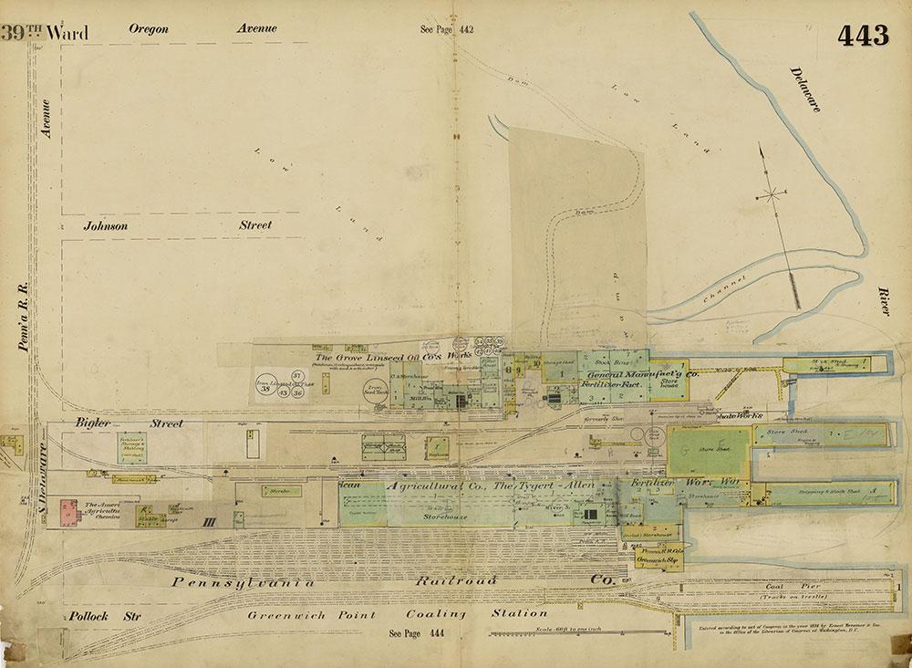 Insurance Maps of the City of Philadelphia, 1893-1914, Plate 443