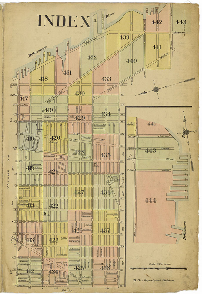 Insurance Maps of the City of Philadelphia, 1915-1919, Map Index