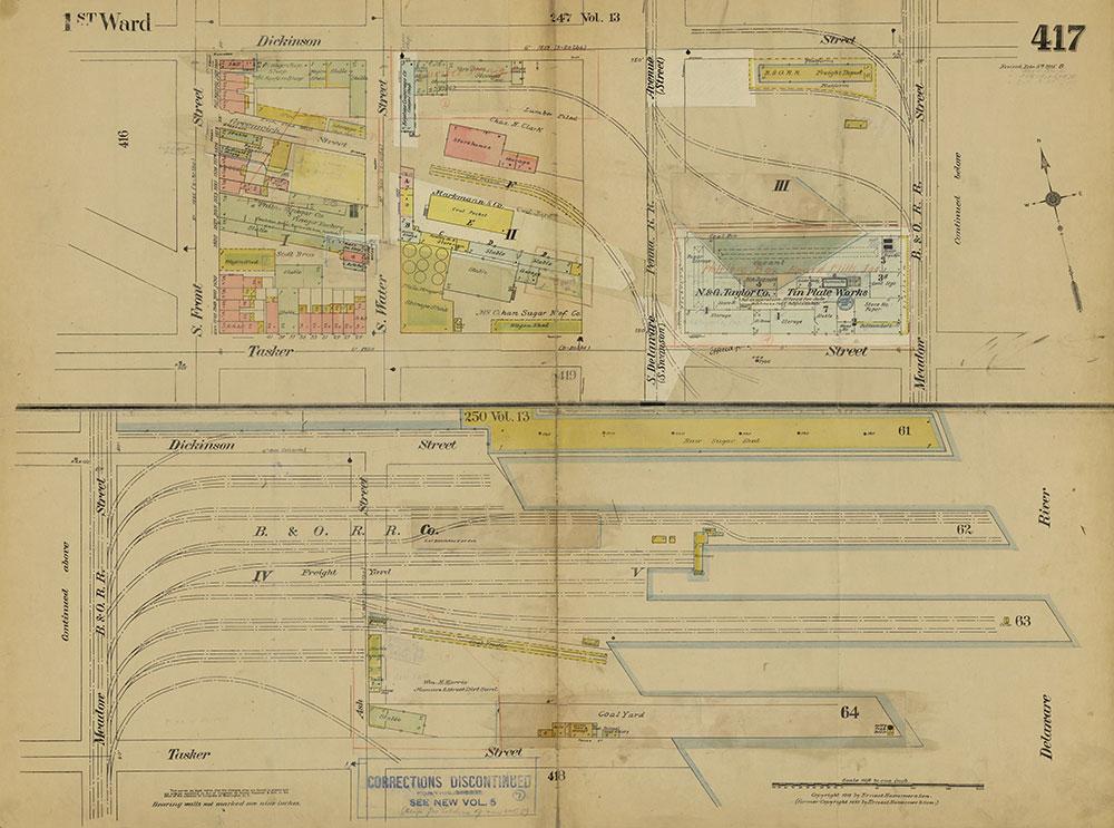 Insurance Maps of the City of Philadelphia, 1915-1919, Plate 417