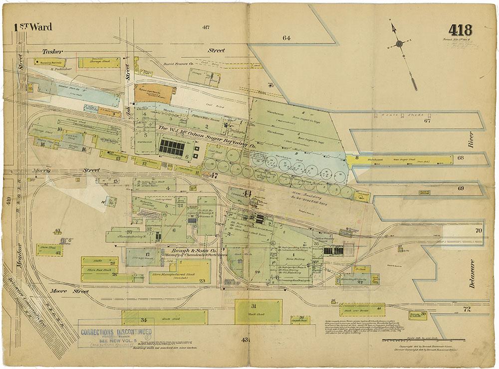 Insurance Maps of the City of Philadelphia, 1915-1919, Plate 418