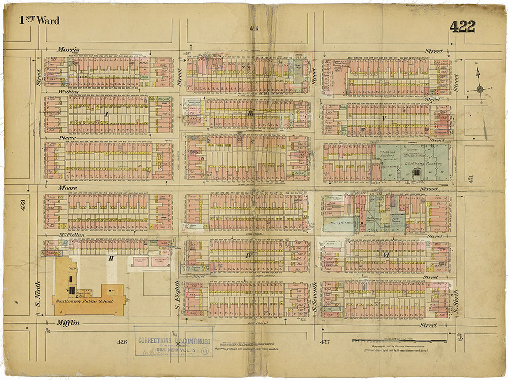 Insurance Maps of the City of Philadelphia, 1915-1919, Plate 422